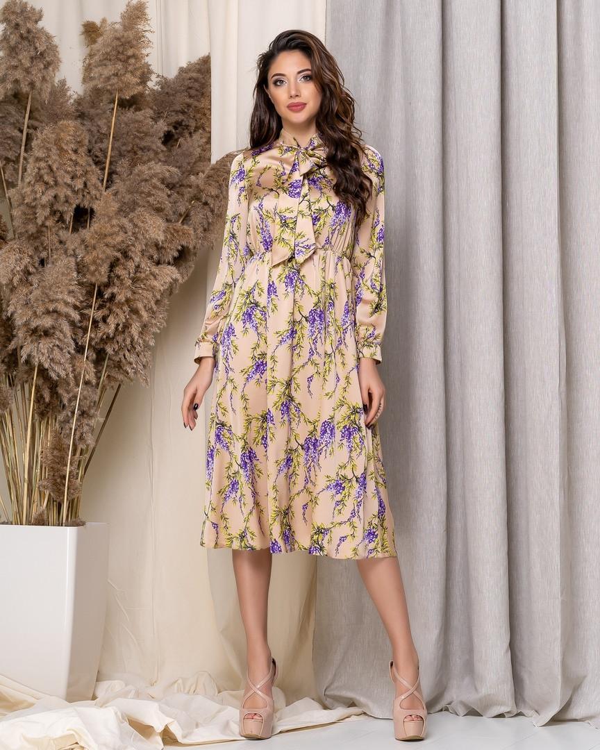 Легке плаття міді квітковий принт