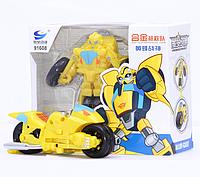 Детская Игрушка для мальчиков Робот-Трансформер Бамблби-Мотоцикл, Боты-спасатели, высота 11 см -  Rescue Bots