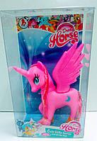 Игровая фигурка для девочек Милая Маленькая Лошадка-единорог с подвижными головой и крылышками, разные цвета