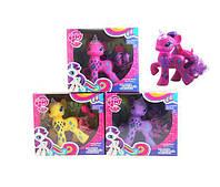 Игровая фигурка для девочек Стильная лошадка Маленькая Пони с подсветкой для детей от 3 лет, разноцветная