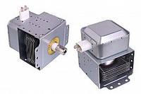 Магнетрон LG 2M214 универсальный, крепежи 90° к контактам для СВЧ микроволновой печи LG, Zelmer, Daewoo, Candy