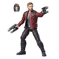 Ігрова фігурка Зоряний Лорд Вартові Галактики зі змінними головами і зброєю, висота 15 см - Star-Lord, Marvel