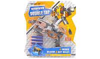 Игрушка для мальчиков Бластер-Трансформер с 4 поролоновыми пулями (серо-оранжевый) - Deformation of double tap