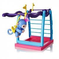 Детский Интерактивный Игровой набор Обезьянка на палец с площадкой для игры - Fingerlings Monkey Bar Playset