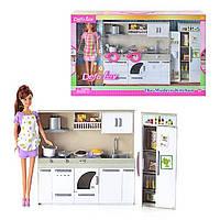Детский игровой набор Современная Кухня для куклы Defa Lucy с мебелью, куклой и аксессуарами арт. 6085