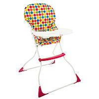 """*Детский компактный стульчик для кормления со съемным чехлом арт. LY 100 """"Цветные горошки"""""""