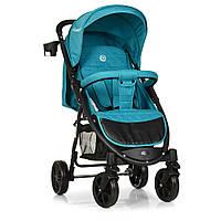 Детская прогулочная коляска с корзиной (+чехол на ножки, подстаканник), TM El Camino, цвет Lagoon арт. 3409