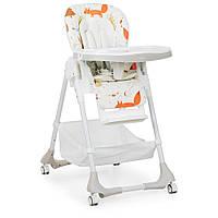 Детский устойчивый стульчик для кормления от ТМ Bambi, пятиточечные ремни, размер 54-81-108 см арт. 3822-4