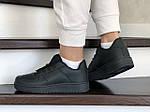Женские кожаные кроссовки Force (черные) 9178, фото 3