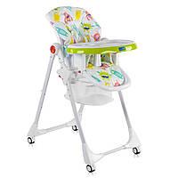 """Детский стульчик для кормления с корзиной и со съемным чехлом от ТМ JOY, узор - """"Монстрики"""" арт. 33740"""