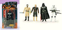 Игровой набор Коллекционных Фигурок Герои Star Wars, 4 вида, 4 героя на планшетке, с оружием, 15,5х4х29 см