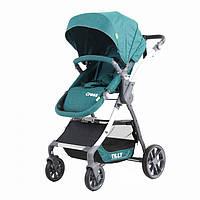*Детская прогулочная коляска (+корзина, подстаканник, чехол), ТМ Tilly Cross, цвет green T-171