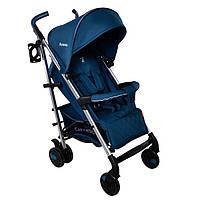 *Детская прогулочная коляска с корзиной, подстаканником и чехлом на ножки, ТМ Carrello, цвет Blue CRL- 8504