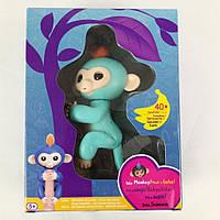 Детская Интерактивная Игрушка для детей от 5 лет Обезьянка на палец 12 см, 40 мелодий - Fingerlings Baby Monkey