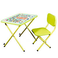 Детская парта складная Азбука (столик + стульчик) 203