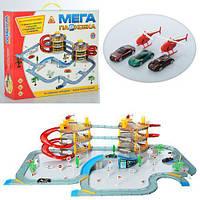 Детский Игровой Набор для мальчиков Паркинг Гараж Мега Парковка 3 этажа, вертолеты, машинки, акс. арт. 922-12