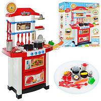 Детская игрушечная кухня Super Cook с посудой и со свет и звуковыми эффектами, 10 аксессуаров арт. 889-3