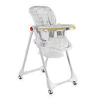 """Детский стульчик для кормления с корзиной и со съемным чехлом и подносом от ТМ JOY, узор - """"Мишки"""" арт. 44009"""