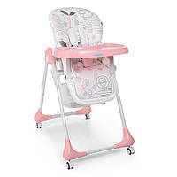 Детский Стульчик для кормления Bambi, 7 полож. высоты, 3 полож. спинки, 60х88х109 см Lamb Light Pink арт. 3233