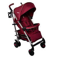 *Детская прогулочная коляска с корзиной, подстаканником и чехлом на ножки, ТМ Carrello, цвет Raspberry CRL- 8504