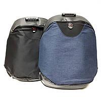 Рюкзак, синій, текстиль+шкірзам Арт.L7029 (Китай) (Стильный практичный рюкзак для ноутбука.)
