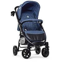 Детская прогулочная коляска с корзиной (+чехол на ножки, подстаканник), TM El Camino, цвет Navy Blue арт. 3409