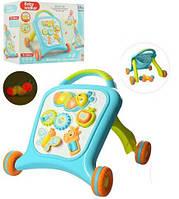 Детские музыкальные Ходунки - каталка со звуковыми и световыми элементами, голубого цветаарт. 8773-8878