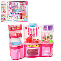 """Игрушечный набор мебели для кухни с аксессуарами для куклы Sweet Home """"Кухня"""", высота кухни 27 см арт. 2801"""