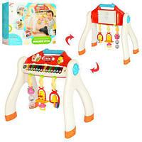 Детский Развивающий Многофункциональный Игровой Центр, съемная панель, погремушки, звуки, пианино, арт. 838-47