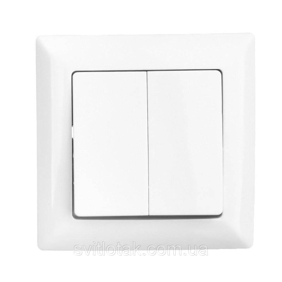 Lectris выключатель 2-ой белый