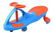 *Детская машинка Бибикар с 2-цветным корпусом для дома и улицы, Smart Сar New, размер 80х30х42 см, голубой