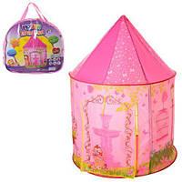 """Детская игровая палатка """"Замок"""" (один вход, одно окно-сетка) для дома и улицы, размер 130-100-100 см арт. 3765"""