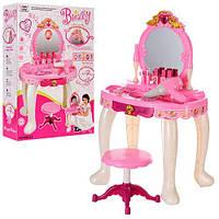 Детский Игровой Набор для девочек Трюмо со стульчиком и аксессуарами, музыка и свет, 72х44х34 см арт. 008-23