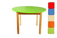 *Детский деревянный столик для творчества с цветной круглой столешницей от ТМ Финекс (6 цветов) арт.031-036