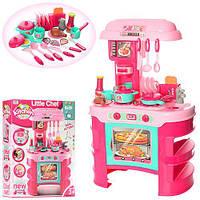"""Детская игрушечная кухня """"Little chef"""" с посудой и со звук и подсветкой, размер кухни 69-45,5-26,5 см арт. 008-908"""