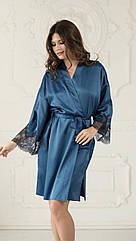 Комплект сорочка+халат синього кольору IBIZA ТМ Komilfo. Україна. M