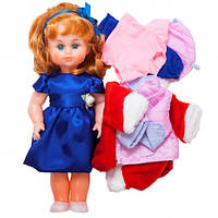 Детская Игровая Кукла для девочек Милана с тремя комплектами сезонной одежды, высота 43 см, Украина, арт. 201