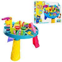 Детский столик с набором для лепки ( 5 баночек с цветным тестом) с аксессуарами и формочками арт. 0429 (8724)