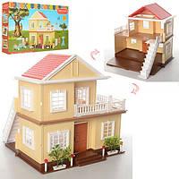 Игрушечный Двухэтажный Домик для лесных семеек Happy Family без мебели, без фигурок, 34х30х35 см, арт. 1514
