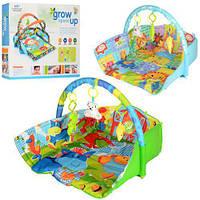 *Развивающий мягкий игровой коврик с подвесными игрушками для малышей, размер коврика: 65-70-55 см арт. D 104