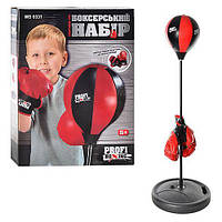 Боксерский набор для дома и улицы (груша на стойке, перчатки), груша диаметром 20 см  арт. 0331