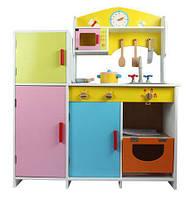 Детский Игровой Набор Кухня Деревянная с бытовой техникой, продуктами, посудой 100х84х30 см арт.15059 (21378)*