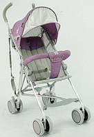 Детская прогулочная коляска-трость с 2х точечным ремнем и ортопедической спинкой, TM JOY, фиолетовая арт. 108 S