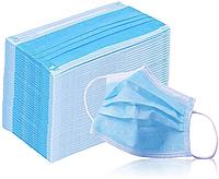 Защитная маска для лица мастера, 50 шт, светло голубая