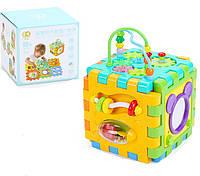 Детская Развивающая музыкальная игрушка Обучающий кубик, сортер, лабиринт, звуковые эффекты GoodWay арт. 2850