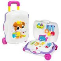 Детский игрушечный набор доктора в чемодане на колесиках HOLA со световыми и звуковыми эффектами арт. 3107