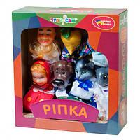 Игровой Набор из 7 кукол-перчаток для домашнего Кукольного театра - сказка Репка для детей и взрослых арт. 152