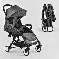 Детская Прогулочная Компактная Коляска Joy, 5-ти точечный ремень, наклон спинки до 165°, темно-серая арт. 3310