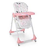 Детский стульчик для кормления от ТМ Bambi, узор-Lamb, цвет - Light Pink, 7 положений по высоте арт. 3233