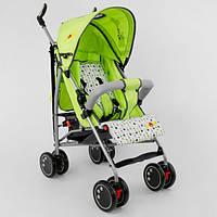 Детская прогулочная коляска-трость с 5 точечным ремнем и корзиной для вещей, TM JOY, салатовая арт. Q 2005